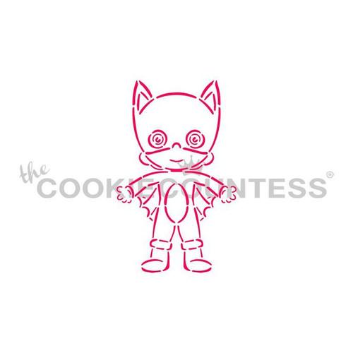 PYO Bat Girl Cookie Stencil