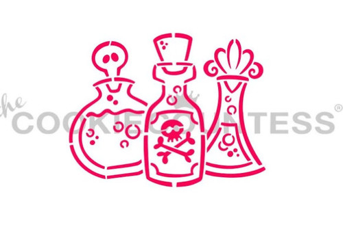 Potion Bottle Cookie Stencil
