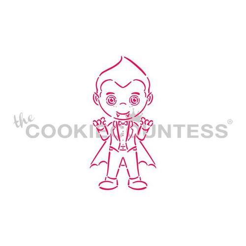 Vampire Boy Cookie Stencil