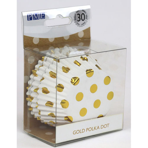 Gold Polka Dot Foil Cupcake Liners