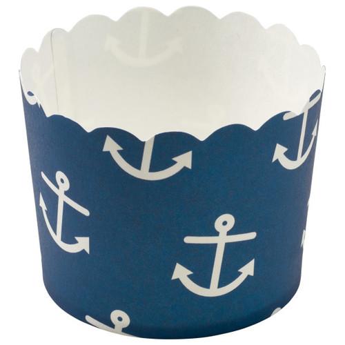 Nautical Print Scalloped Cupcake Liners (12 pc)