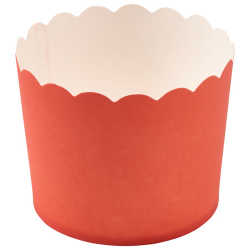 Coral Scalloped Cupcake Liners (12 pc)