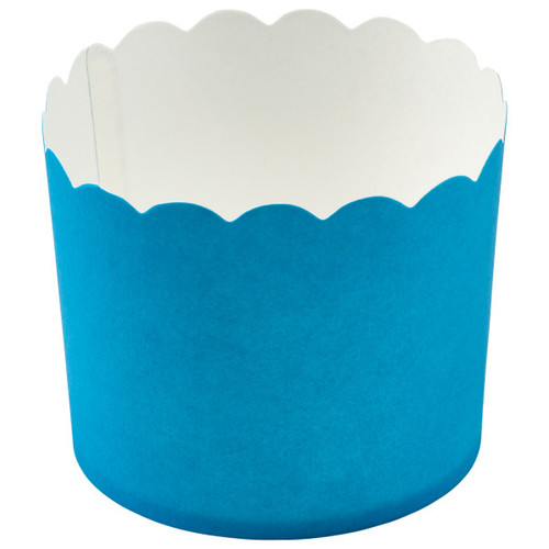 Blue Scalloped Cupcake Liners (12 pc)