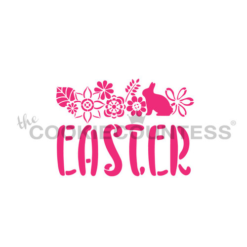 Easter Floral Cookie Stencil