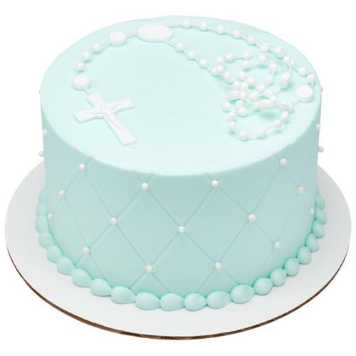 Rosary White Cake Topper