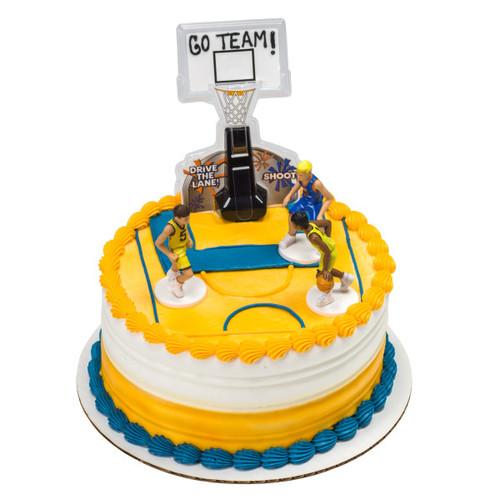 Basketball Net & Players Cake Topper (5pc)
