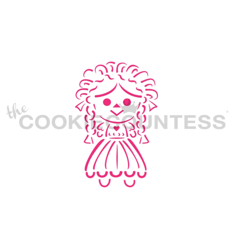 Maria Doll PYO Cookie Stencil