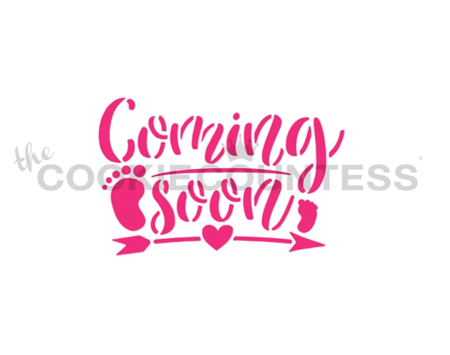 Baby Coming Soon Cookie Stencil