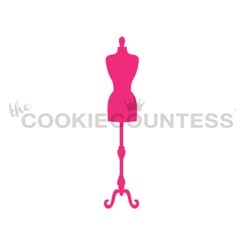 Dress Mannequin / Dress Form Cookie Stencil
