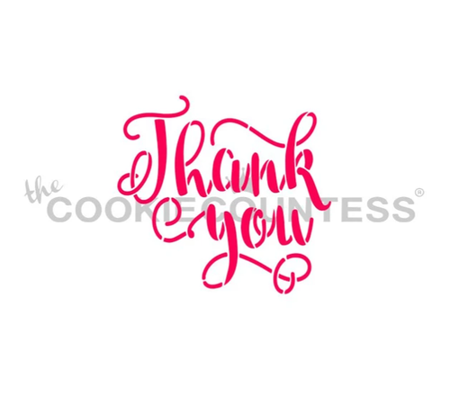 Thank You Lettering Cookie Stencil
