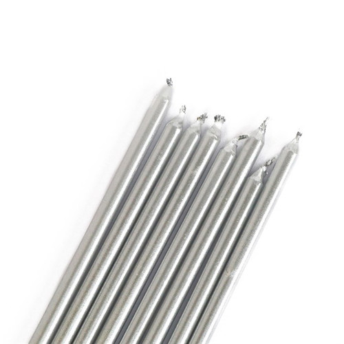 Silver Candles Extra Tall (16 pc)