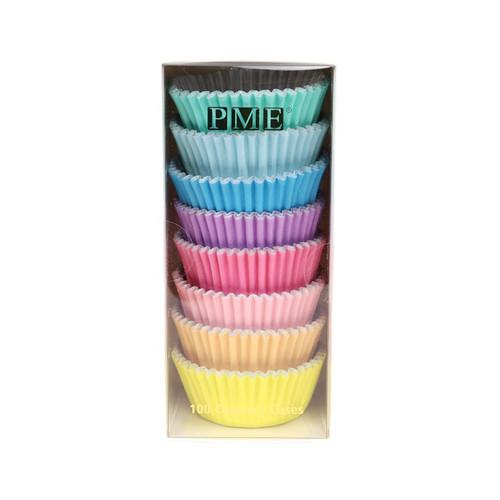 PME Foil Pastel Rainbow Cupcake Liners (100pc)