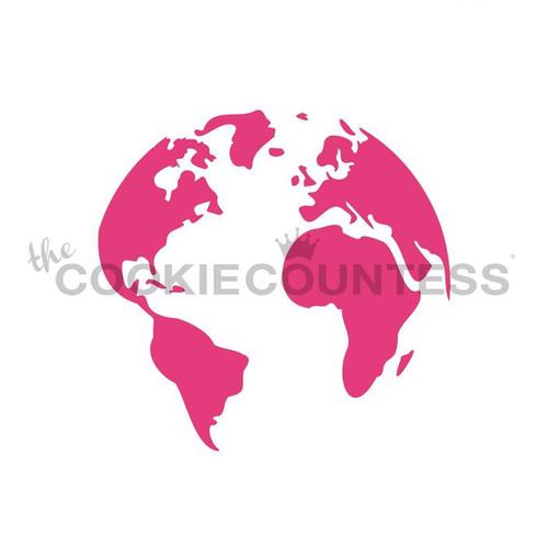Globe Cookie Stencil