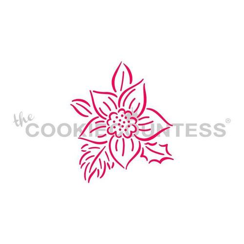 Poinsettia PYO Cookie Stencil