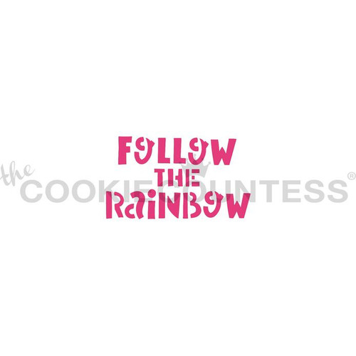 Follow The Rainbow Cookie Stencil