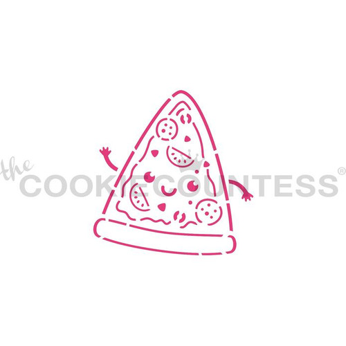 Pizza PYO Cookie Stencil