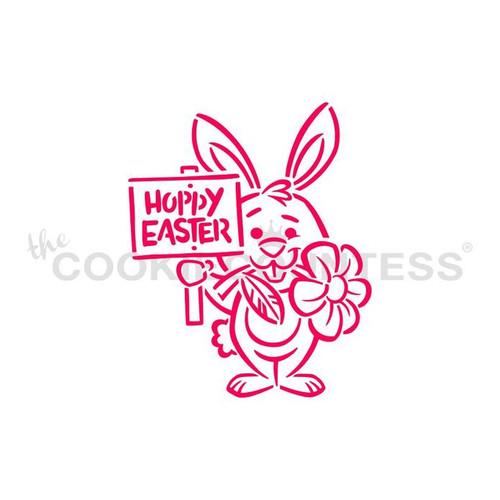 Bunny & Sign PYO Cookie Stencil