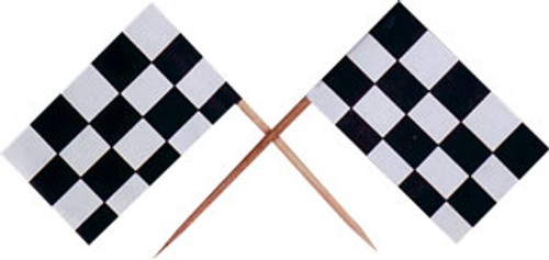 Checkered Racing Flag Cake or Cupcake Topper ( 12pc )