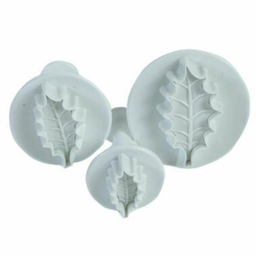 Holly Leaf Plunger Cutter Set ( 3 pc )