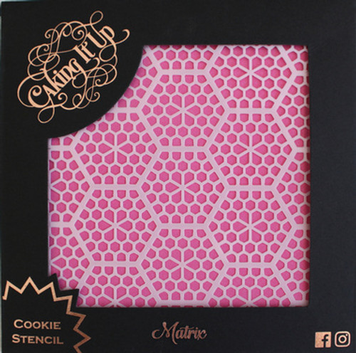 Matrix Cookie Stencil