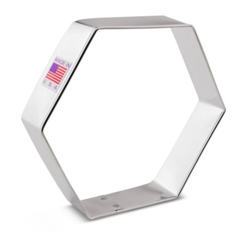 """Hexagon 3.75"""" Cookie Cutter"""