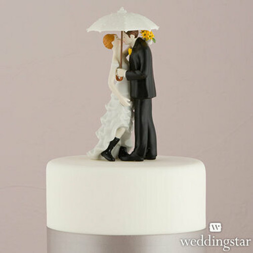 'Showered with Love' Wedding Cake Topper