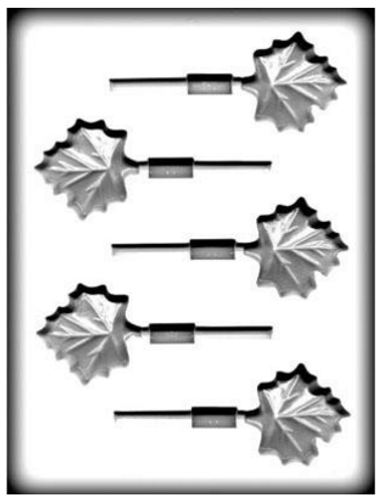 Maple Leaf Hard Candy Mold Lolly