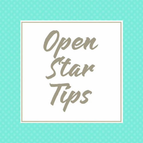 Open Star Piping Tips for Cake Decorating