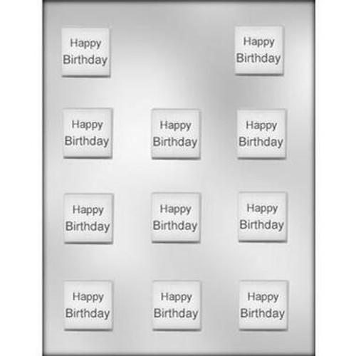 Happy Birthday Plaque Chocolate Mold