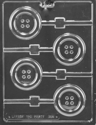 Button Chocolate Lolly Mold