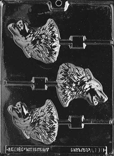 Wolf Chocolate Mold Lolly