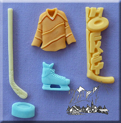 Hockey Assorted Silicone Mold