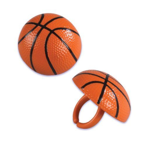 Basketball 3D Cake and Cupcake Toppers