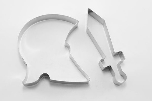 Helmet and Sword  Cookie Cutter