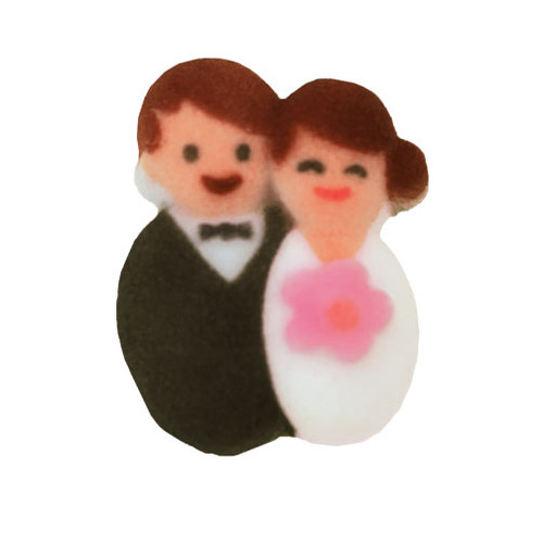 Bride and Groom Molded Sugars