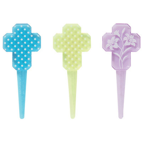 Cross Cake and Cupcake Toppers