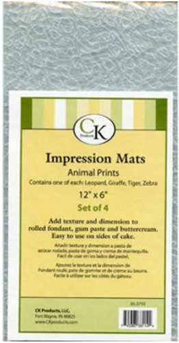 Animal Prints Impression Mat Assorted
