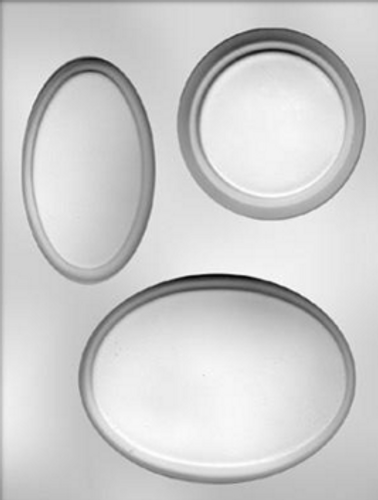 PLaque Oval Chocolate Mold