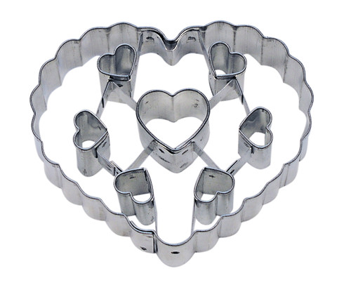 Heart w/Cut Out Hearts Cookie Cutter