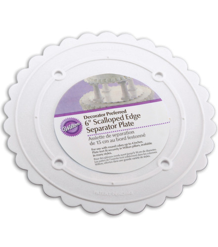 Scalloped Separator Plates 6 inch