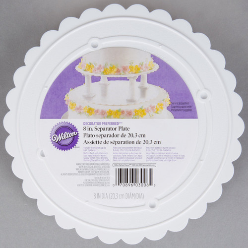Scalloped Separator Plates 8 inch