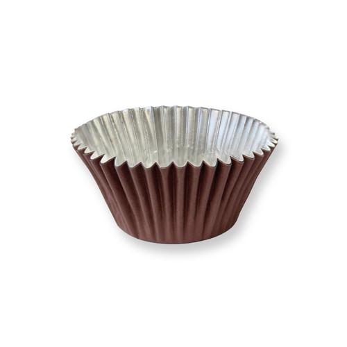 Chocolate Brown Foil Cupcake Liner