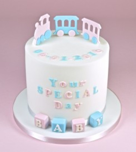 cake using art deco lettering made with FMM art deco upper case tappits