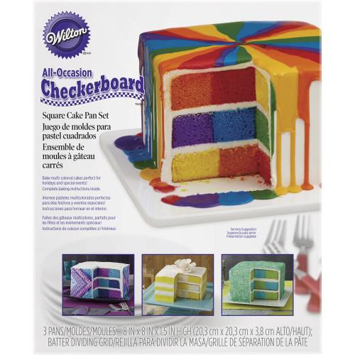 Checkerboard Square Cake Pan