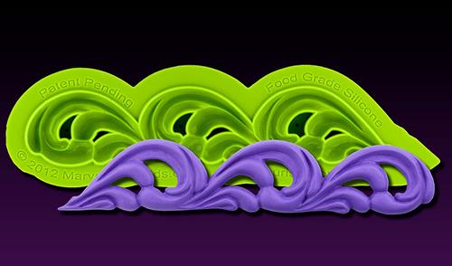 Flourish Scroll Silicone Mold