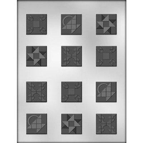 Baby Quilt Squares Chocolate Mold