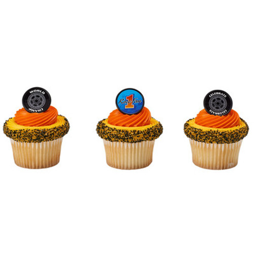 #1 Race Fan Cake and Cupcake Toppers