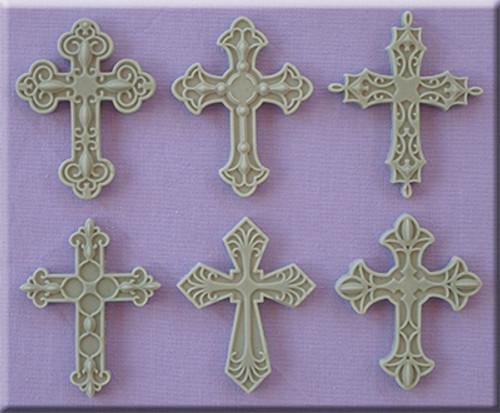 Decorative Cross Silicone Mold