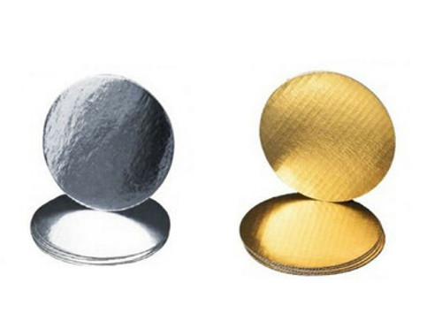 """Cake Boards - 6"""" Round Thin Gold/Silver Reversible"""