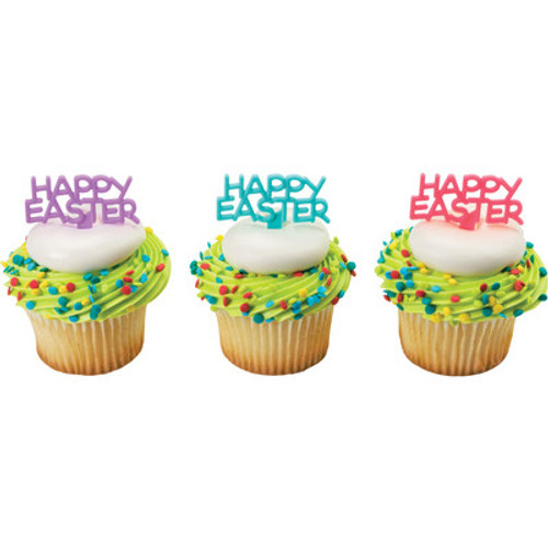 Happy Easter Sign Cake and Cupcake Toppers